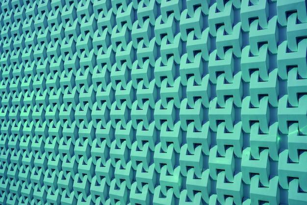 Modello decorativo edificio blu turchese