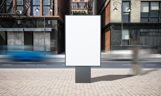 Modello del tabellone per le affissioni del segno di pubblicità della via