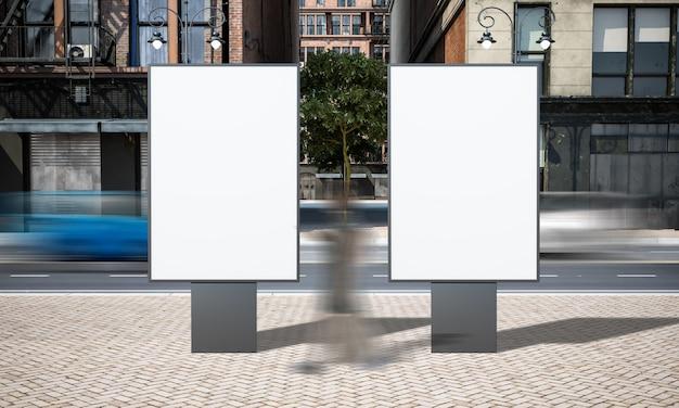 Modello del tabellone per le affissioni del segno di pubblicità di due vie