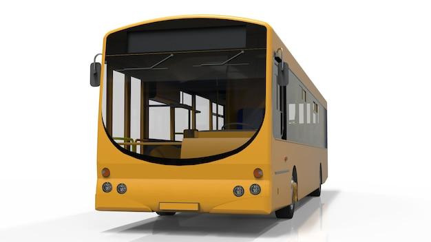 Modello di autobus giallo città. trasporto passeggeri