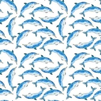 Modello di balene dell'acquerello