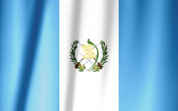 Modello di bandiera guatemala sulla trama del tessuto, stile vintage