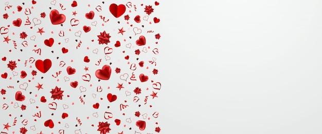 Modello di banner felice giorno di san valentino