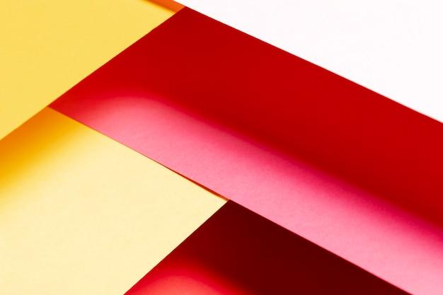 Modello di colori caldi sfumati vista dall'alto