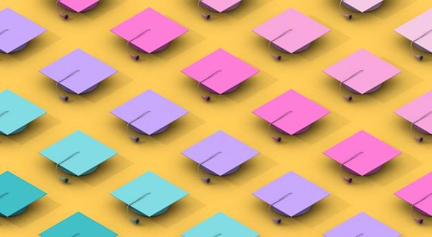 Modello di composizione minimalista con diversi tappi di graduazione di colori