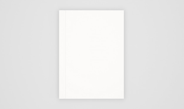 Modello di copertina del libro bianco isolato su bianco
