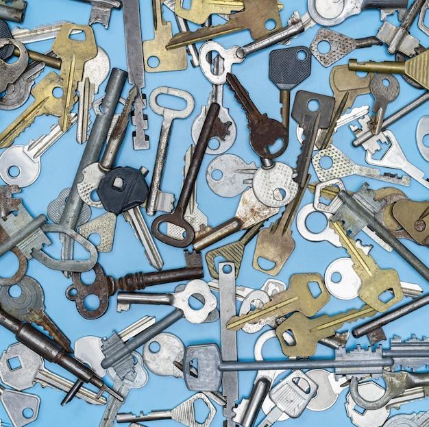 Modello di diversi tipi di chiavi
