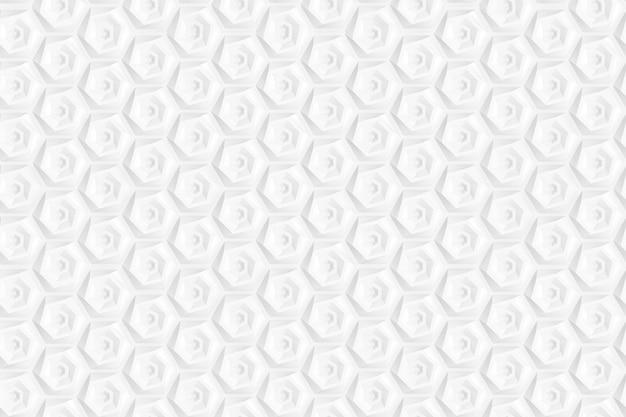 Modello di esagoni e cerchi basato su griglia esagonale o nido d'ape