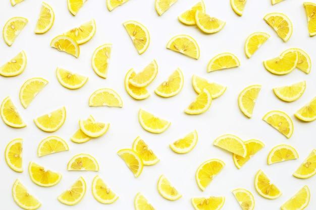 Modello di fette di limone fresco