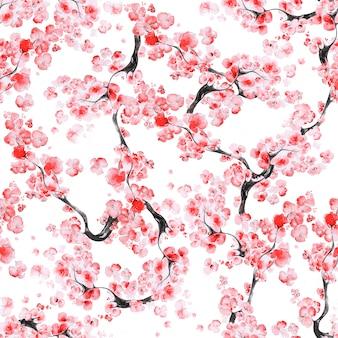 Modello di fiore di ciliegio