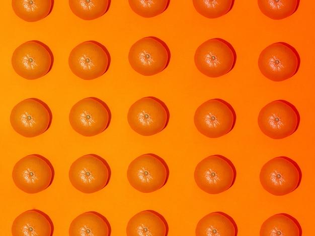 Modello di frutta colorata di mandarini freschi