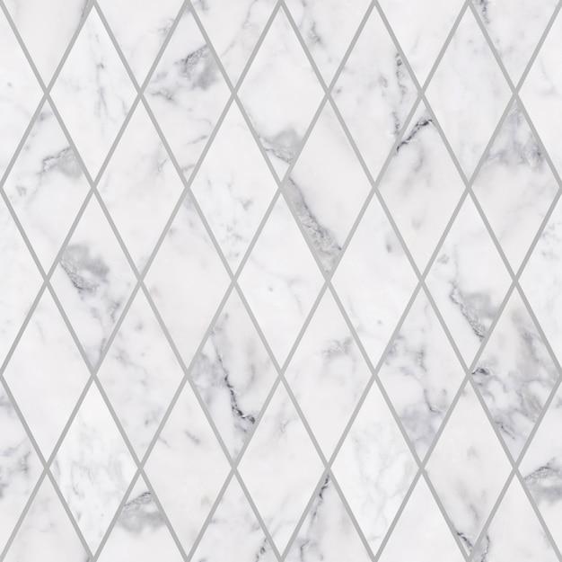 Modello di pietra di marmo bianco di rombo di lusso senza cuciture, decorazione di pietra di marmo di lusso