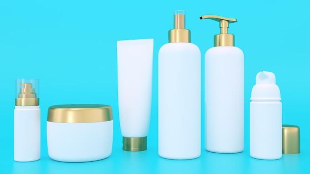 Modello di rendering 3d per contenitori cosmetici