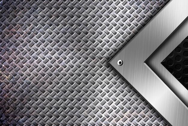 Modello di sfondo moderno framing metallo