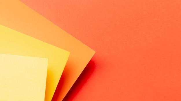Modello di tonalità arancione con spazio di copia