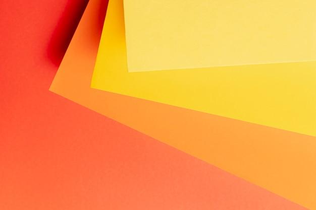 Modello fatto di diverse tonalità di colori caldi
