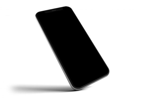 Modello isolato di smartphone - rappresentazione 3d
