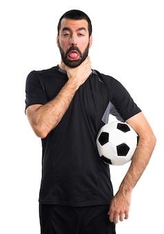 Modello latino uomo giocatore bello