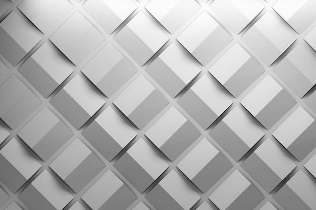 Modello monocromatico con quadrati piegati. ripetizione di forme base piegate.