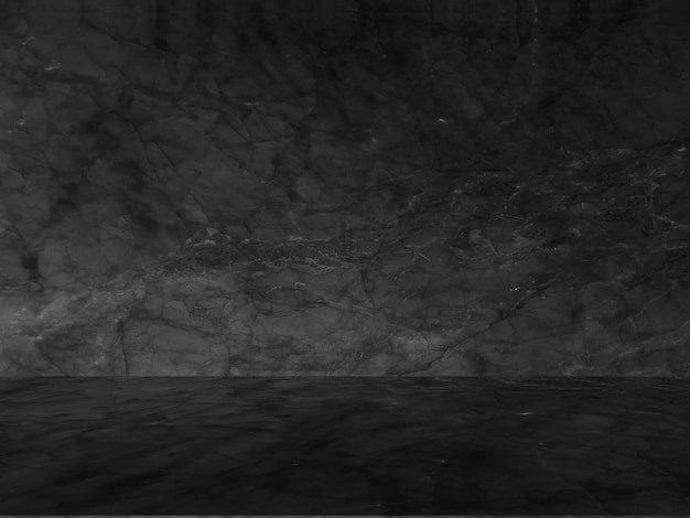 Modello naturale in marmo nero per sfondo, astratto in bianco e nero.