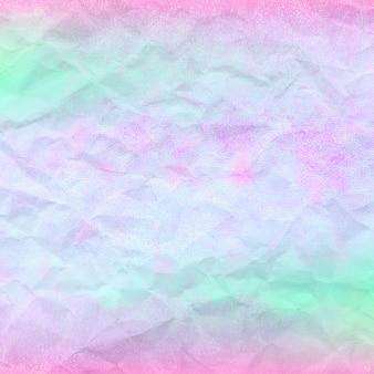 Modello olografico con sfondo di carta stropicciata