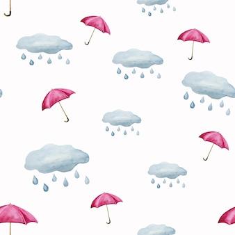 Modello ombrello e pioggia