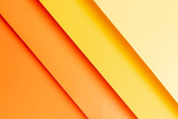 Modello piatto di tonalità calde di colori caldi