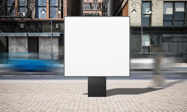 Modello quadrato del tabellone per le affissioni di pubblicità della via