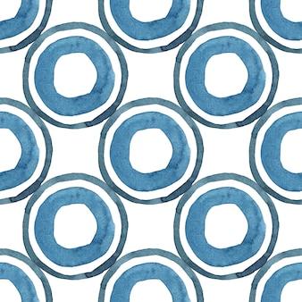 Modello senza cuciture astratto geometrico tribale dei blu navy su fondo bianco