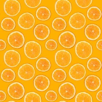 Modello senza cuciture di arancia fresca