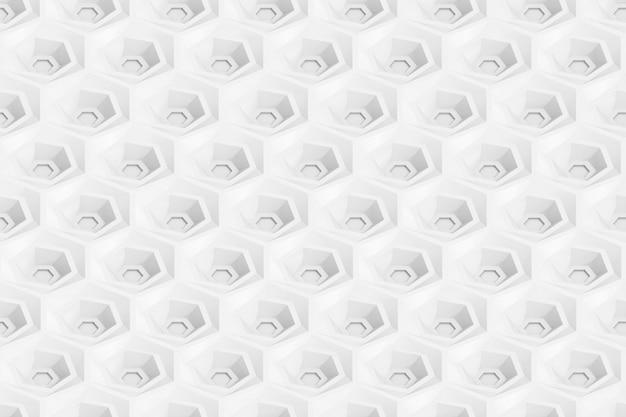 Modello senza cuciture di esagoni e cerchi basati sulla griglia esagonale