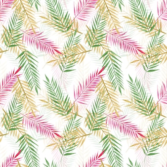 Modello senza cuciture di foglie di palma tropicale