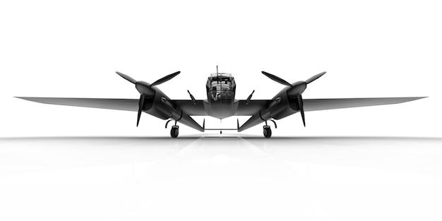 Modello tridimensionale del bombardiere aereo della seconda guerra mondiale