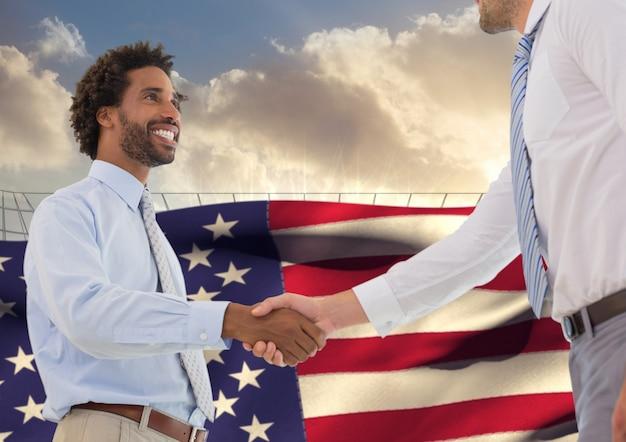 Modello uniforme uomo lavoro bandiera nazionale