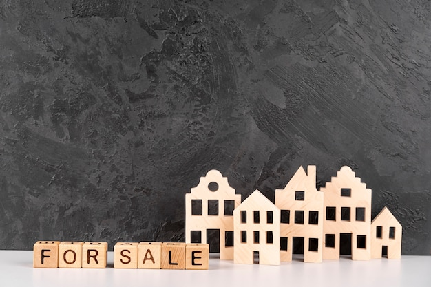 Modello urbano di città in legno in vendita