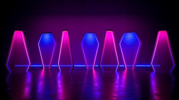 Moderna luce al neon futuristica