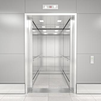 Moderno ascensore 3d