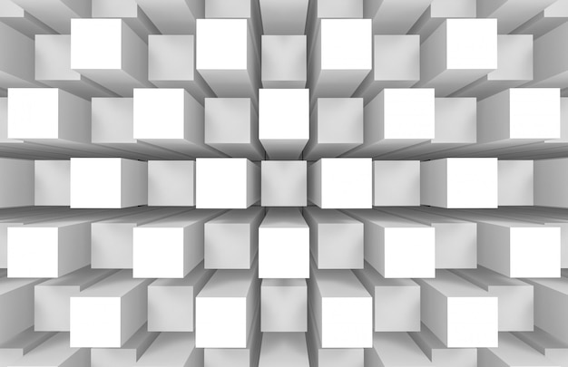 Moderno astratto casuale quadrato cubo scatola bar pila parete