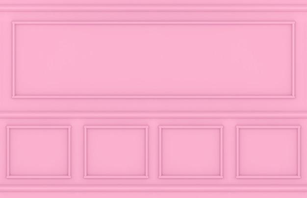 Moderno moderno rosa quadrato classico sfondo design a parete.