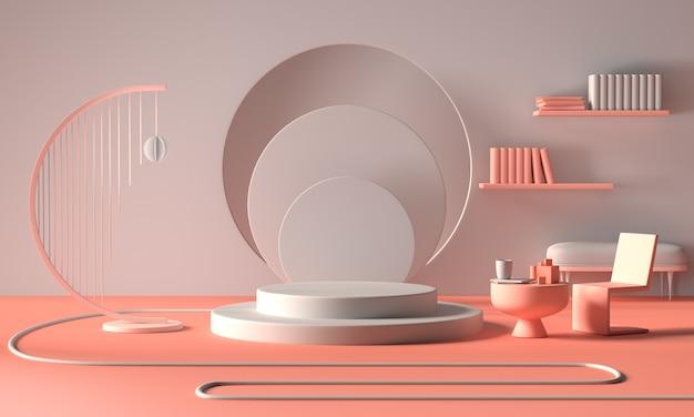 Moderno podio o vetrina minimalista