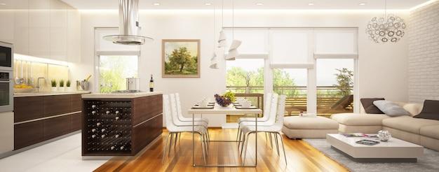 Moderno soggiorno interno