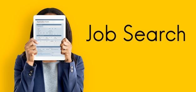 Modulo di domanda in bianco di ricerca di lavoro
