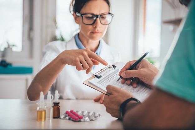 Modulo di richiesta di assicurazione sanitaria per la presentazione del paziente