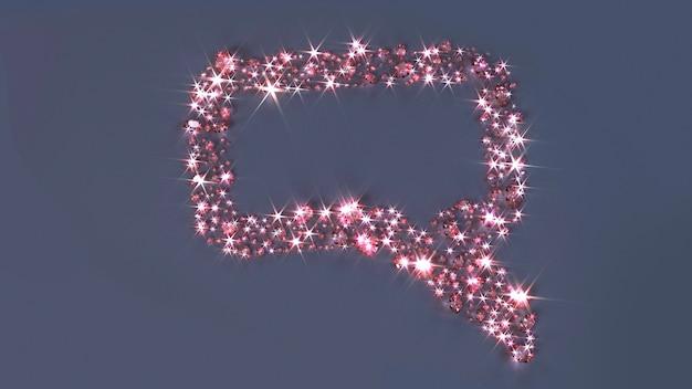 Molte gemme sparse sulla superficie sotto forma di un messaggio cloud