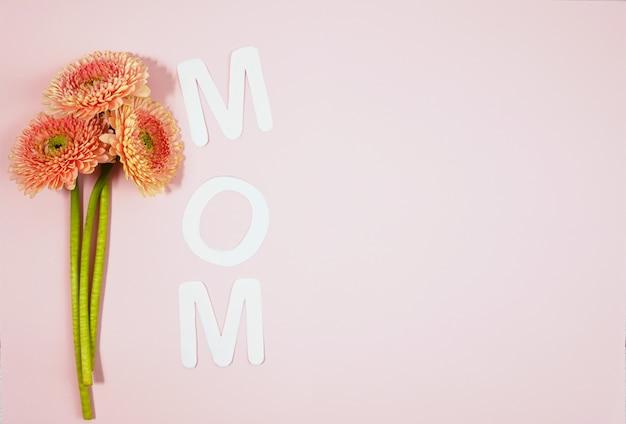 Momma di testo con cuori su backround coloful