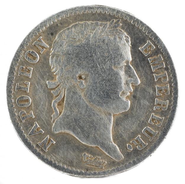 Moneta d'argento dell'imperatore napoleone i