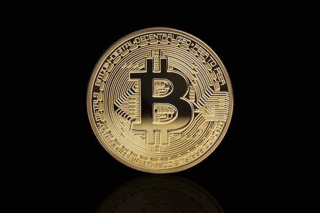 Moneta d'oro bitcoin