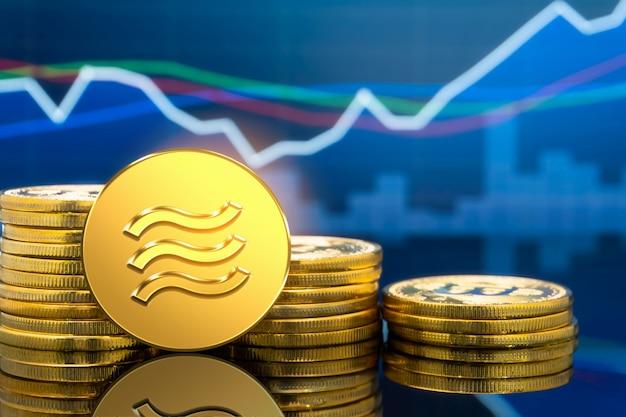 Moneta di criptovaluta bilancia in digital money economy