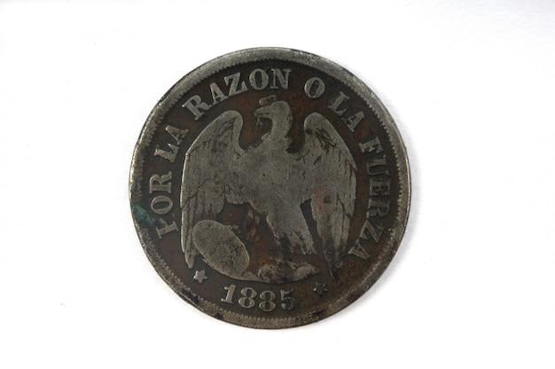Moneta un decimo del cile 1885