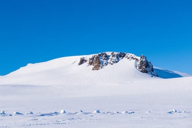 Montagna della neve in islanda